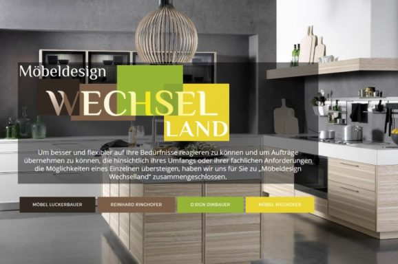 Website – Möbeldesign Wechselland